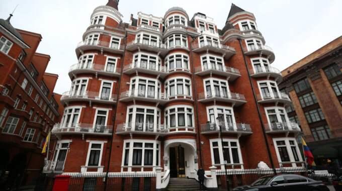Ecuadors ambassad i London. Foto: Carl Court