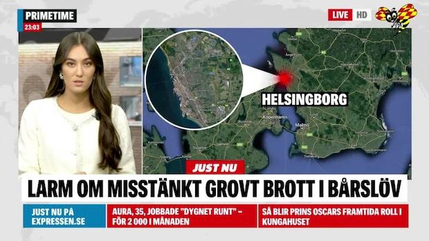 Misstänkt grovt brott utanför Helsingborg