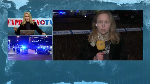 """Expressens reporter: """"Explosion på baksidan av polishuset"""""""