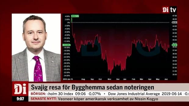 """SEB:s aktiestrateg om bygghandlaren: """"Värderas inte med någon premie"""""""