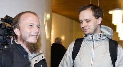 På tisdagen tog åklagaren bort en av åtalspunkterna i åtalet mot Pirate Bay. Foto: Bertil Ericson/Scanpix