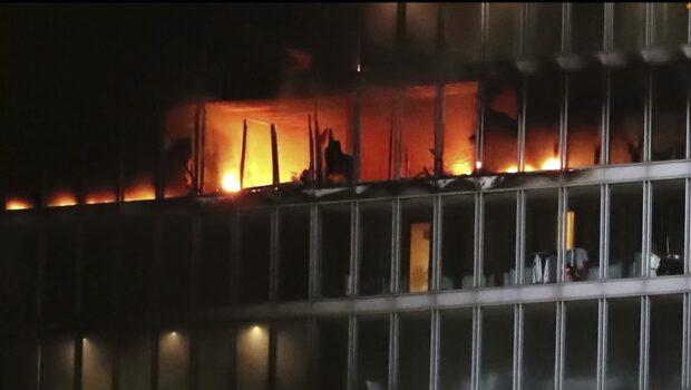 Storbrand bröt ut på hotell i Dublin