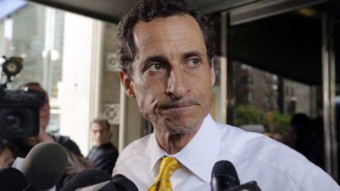 Anthony Weiners politiska karriär tog slut efter att ha skickat sex-sms till flera kvinnor. Foto: RICHARD DREW