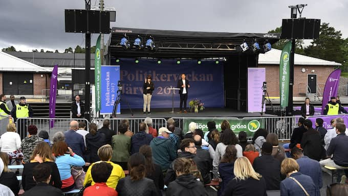 Fridolin på scenen. Foto: SVEN LINDWALL