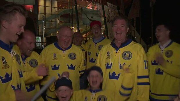 Svenska fans guldfirade i Köln-natten