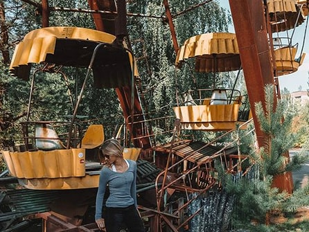 Lexi i Tjernobyl, Ukraina.