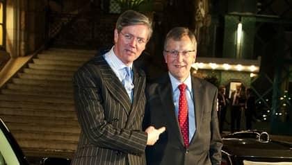 """Victor Muller, vd för Spyker, och Jan Åke Jonsson, vd för Saab, har stora förhoppningar inför framtiden. """"Jag har goda grunder att tro på den här affären. Som jag ser det finns det inte någon risk att den spricker"""", säger Jan Åke Jonsson. Foto: Tommy Pedersen"""