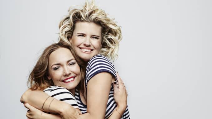 """Carina Berg och Christine Meltzer har flera program på Kanal 5, bland annat """"Berg & Meltzers på Oscar"""". Foto: Magnus Ragnvid/Kanal 5"""