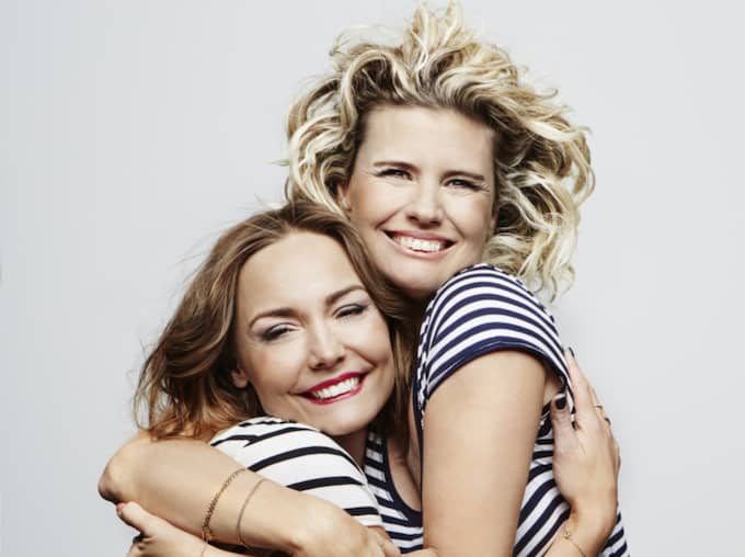 Carina Berg och Christine Meltzer gör program på Kanal 5. Foto: Magnus Ragnvid