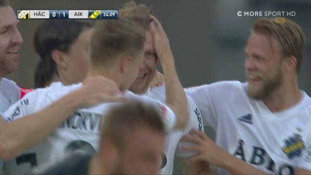 Se den galna halvleken mellan Häcken och AIK