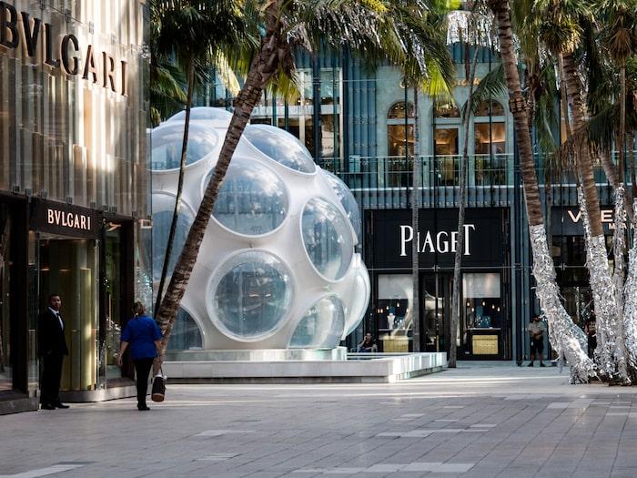 Fönstershoppa i Miami Design District.