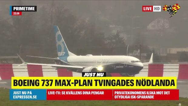 Boeing 737 Max 8 har nödlandat i Florida