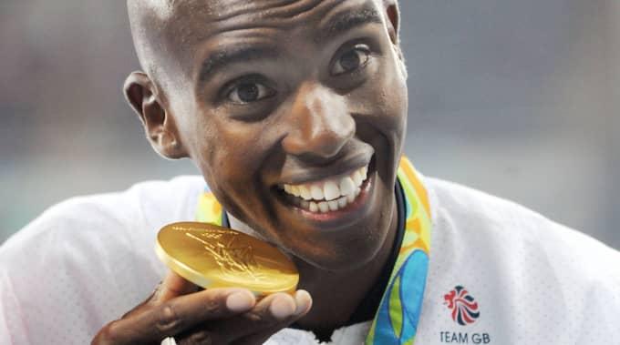 Mo Farah tog guld på 5000 och 10000 meter Foto: Imago Sportfotodienst / IMAGO/COLORSPORT/IBL IMAGO SPORTFOTODIENST GMBH