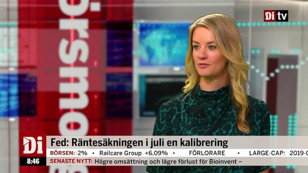 """Landeborn efter FED-protokollet: """"Talar för en till justering"""""""