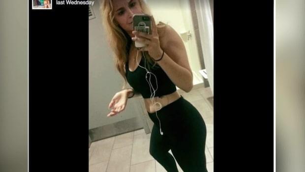 Sarah blev utslängd från gymmet - för att hon visade magen