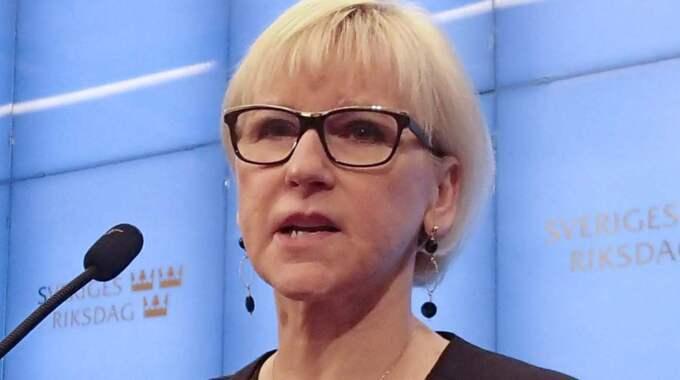 När Expressen träffar utrikesminister Margot Wallström (S) i riksdagen vill inte heller hon kalla Kina för diktatur. Bilden är tagen vid ett tidigare tillfälle. Foto: Peter Wallberg/TT