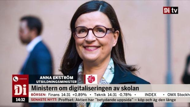 Utbildningsministern om digitaliseringen av skolan