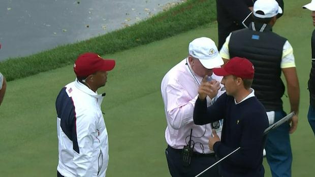 Märkliga scenerna: Här diskas stjärnan under PGA-touren