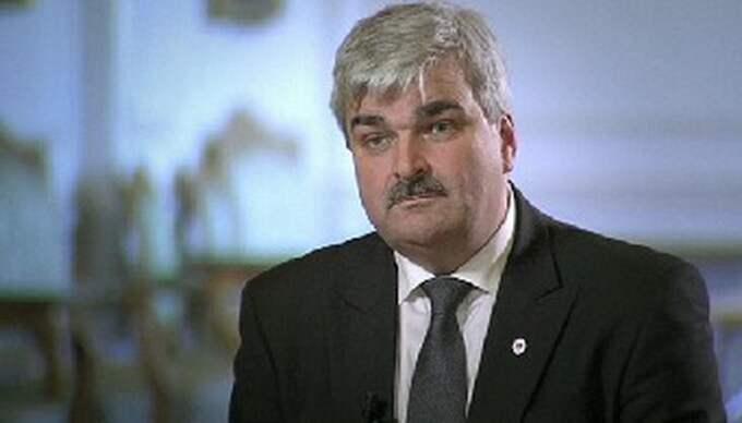 Håkan Juholt gav svar i SVT:s Agenda. Foto: SVT
