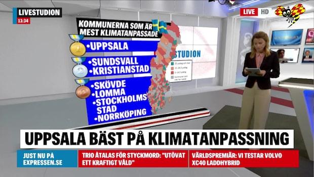 De kommunerna är bäst i Sverige på klimatanpassning