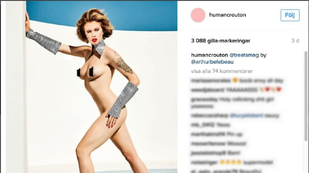 Ireland Baldwin poserar naken under fotografering