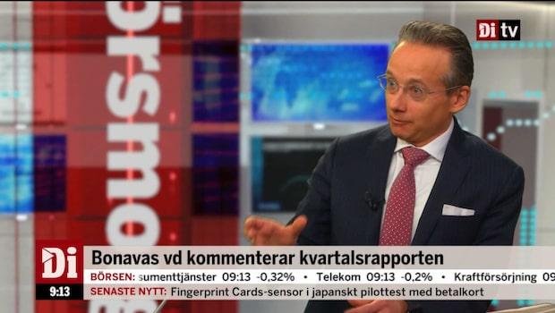 Bonavas vd: Vår försäljning talar om framtiden