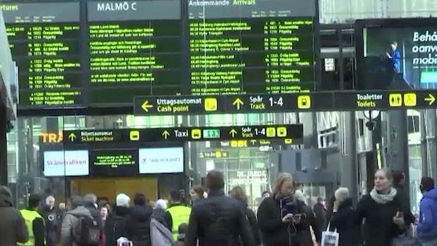 Tågkaos i Skånetrafiken på måndagmorgonen