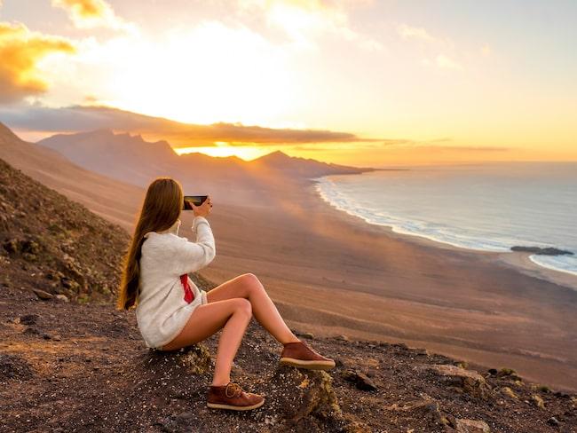 Nu kan du dela med dig av dina bilder direkt från stranden på exempelvis Fuerteventura.