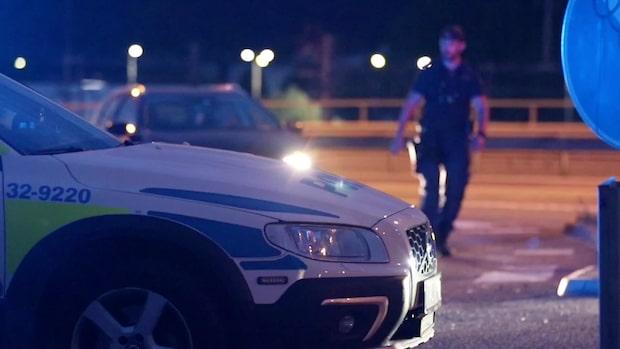 Explosion vid bensinstation i Flemingsberg