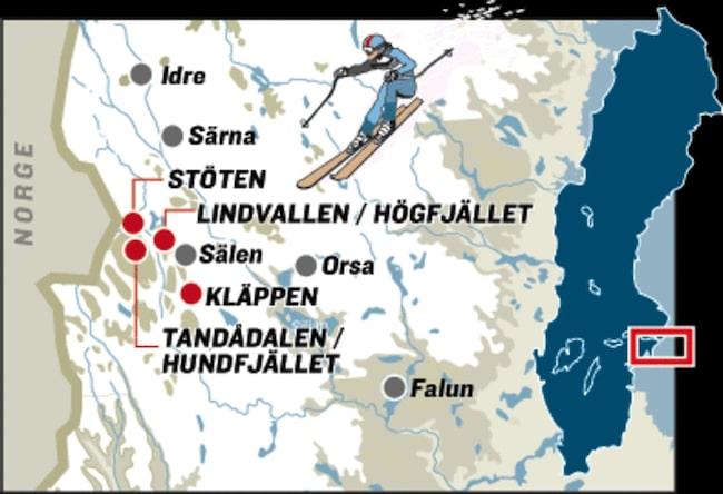 salen sverige kart Sportlov i Sälen | Allt om resor | Expressen | Allt om Resor salen sverige kart