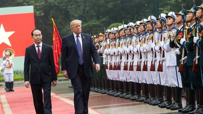 Donald Trump med Vietnamns president Tran Dai Quang. Foto: SHEALAH CRAIGHEAD / WHITE HOUSE / POLARIS POLARIS IMAGES
