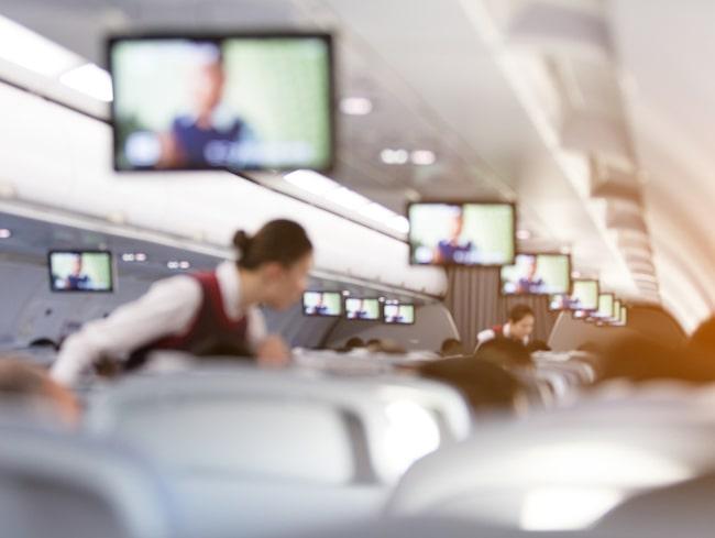 """En flygvärdinna fotograferade händelsen och delade bilden på Instagram-kontot """"Passenger Shaming""""."""