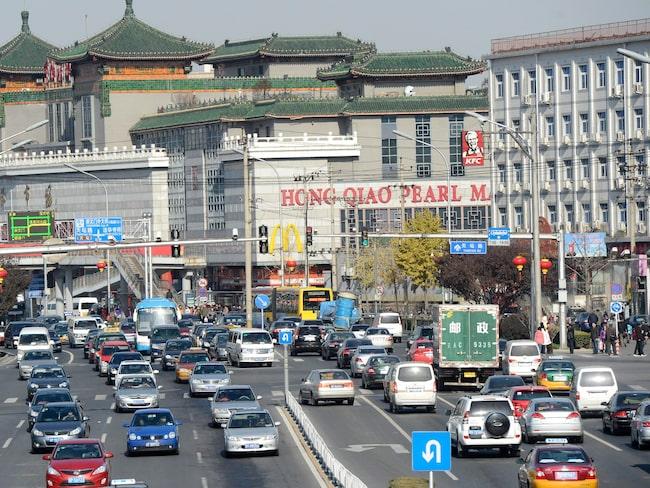 Även i Kina omkommer många människor på vägarna.