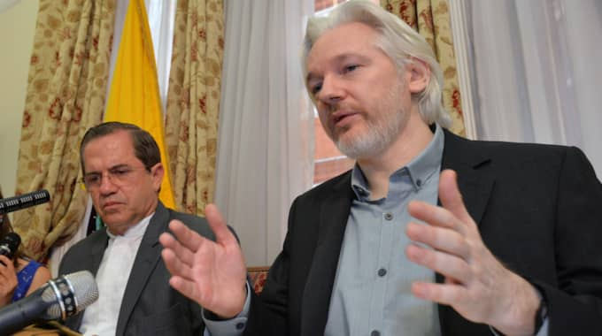 Wikileaks-grundaren Julian Assange. Foto: AP/Pool photo/John Stillwell