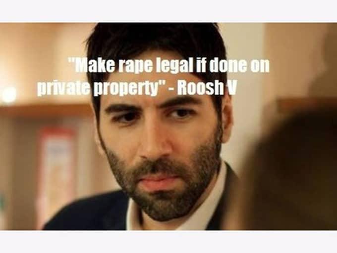 """Daryush Valizadeh, även kallad """"Roosh V"""", väcker stor ilska i sociala medier för sina uttalanden om kvinnor och våldtäkt. Foto: Skärmdump"""