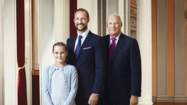 Speciella bilden från norska kungafamiljen