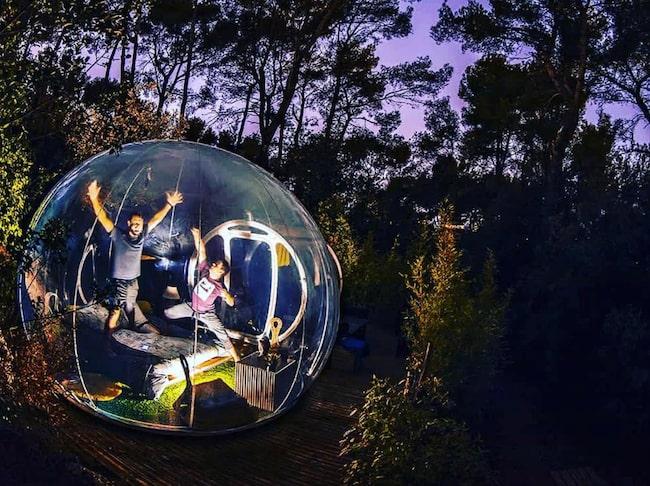 Attrap'Rêves i Frankrike är ett av flera läckra bubbelhotell i Europa.