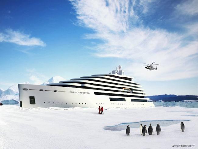 <span>Crystal Endeavour blir enligt bolaget &quot;världens största megayacht&quot;.</span>