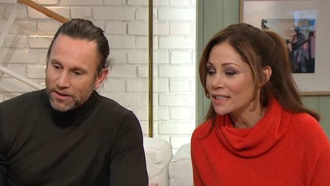 Peter Jihde och Tilde de Paula chockas av Bingos kalsongmiss. Foto: TV4