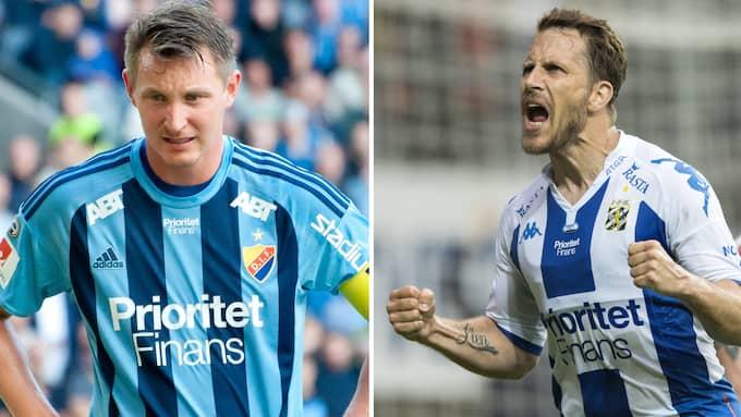 Kim Källström och Tobias Hysén har känt varandra länge. I kväll möts de i Göteborg för första gången på drygt 20 år. Foto: TT & IBL