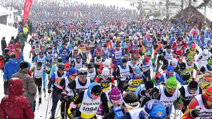 52 912 åkare tog i mål i Vasaloppet 2018. Foto: ULF PALM/ TT / TT NYHETSBYRÅN