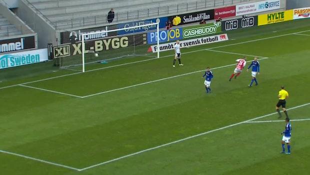 Måns Söderqvist dunkar in 1-0 mot Sundsvall