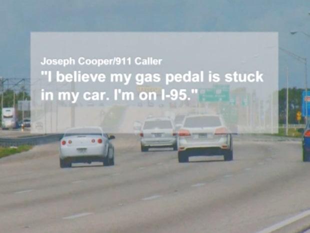 Gaspedalen fastnade - körde 160 kilometer i timmen i flera mil