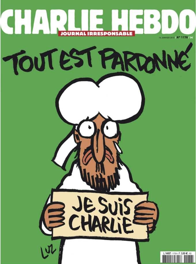 Attacken mot Charlie Hebdo då tolv personer dog i januari i år påminde om den planerade attacken. Foto: Charlie Hebdo / Handout / Epa / Tt