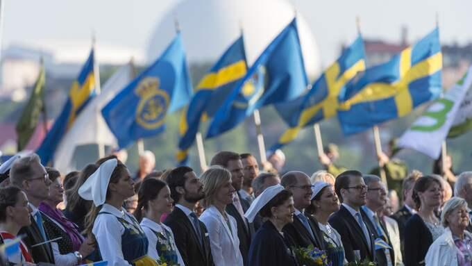 Under kvällen kommer kungafamiljen traditionsenligt att delta vid konserten på Skansen. Foto: MIKAEL SJÖBERG