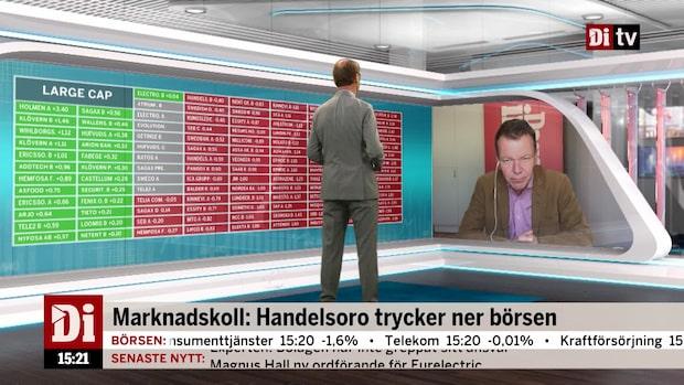 """Börsexperten: """"Politisk oro trycker ner börsen rejält idag"""""""