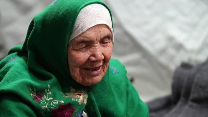 Bibikhal Uzbeki, snart 107 år gammal. Foto: MARJAN VUCETIC/AP