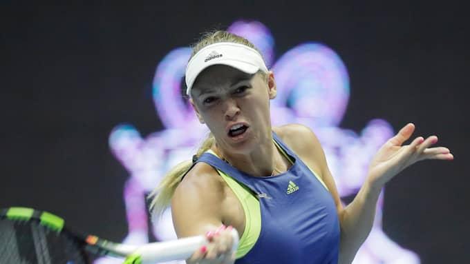 Caroline Wozniacki i Astralian Open-finalen. Foto: DMITRI LOVETSKY / AP TT NYHETSBYRÅN