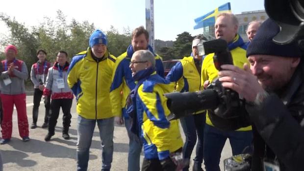 """Här firar lag Hasselborg – med """"Små grodorna"""""""