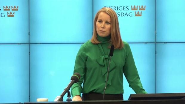 Annie Lööf ger upp försöken att bilda regering